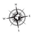 globe on a compass vector image vector image