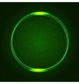 Green Glowing Rings on Dark Dotted Abstract vector image vector image