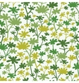Green Plants Seamless Pattern Background vector image