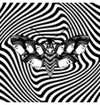 hand drawn of moth with female faces on the wings vector image