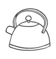 hand drawn teapot on white background vector image