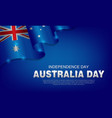 happy australia day celebration poster or banner vector image vector image