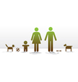 Happy growing family vector image vector image