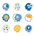 Head brain icons vector image