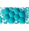 hexagonal gradient transparent graphic figures vector image