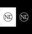 initial monogram letter ne logo design template vector image vector image