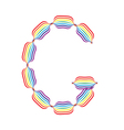 Letter G made in rainbow colors vector image