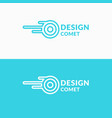 linear logo comet sign for transportation company vector image vector image