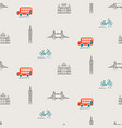 london city theme kid seamless pattern vector image vector image