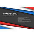 modern background with luxembourg colors and grey vector image