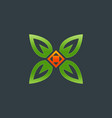 nature logo floral logo flower icon vector image vector image