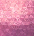 Pink low poly background vector image vector image