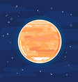 planet venus in space in flat style vector image vector image