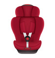 red child car seat isolated on a white background vector image vector image