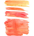 red orange paint strokes vector image vector image