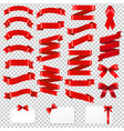 red ribbons big collection vector image