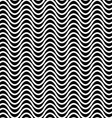 Repeating monochrome wave pattern vector image vector image