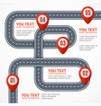 road infographic with location mark elements vector image vector image