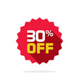sale tag badge template 30 percent off vector image