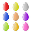 set colorful realistic easter eggs isolated vector image