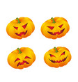 set of pumpkin emoticons vector image