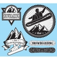 set templates for extreme snowboarding vector image