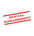 Sexual Harassment Watermark Stamp vector image