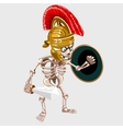 Skeleton knight with sword and shield vector image vector image