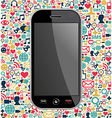 Smart phone network icon background vector image vector image
