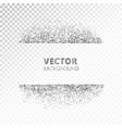 sparkling glitter border frame scattered silver vector image