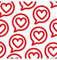 Speech bubbles with love heart celebration