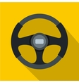 Sports car steering wheel icon flat style vector image vector image