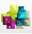 square abstract background vector image vector image