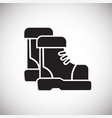 tracking boots icon on white background for vector image vector image