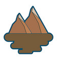 two mountain natural flora land scene vector image