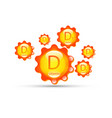 vitamin d group sun icon natural organic capsule vector image
