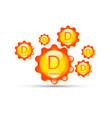 vitamin d group sun icon natural organic capsule vector image vector image