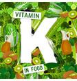 vitamin k background vector image vector image
