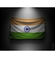 waving flag india on a dark wall vector image vector image