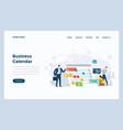 web design flat modern concept - business calendar vector image vector image