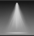 white beam lights spotlights transparent vector image vector image
