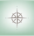 wind rose sign brown flax icon on green vector image