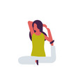 woman doing yoga exercises female cartoon vector image