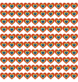 Hearts in flat icon style with long shadows vector image