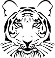 vector abstract tiger head vector image