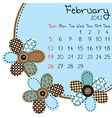 2012 february calendar vector image vector image