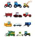 agriculture industrial farm equipment harvest vector image vector image