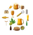 beer icons set cartoon style vector image vector image