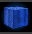 blue water cube vector image