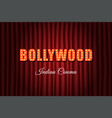 bollywood indian cinema vintage background vector image vector image